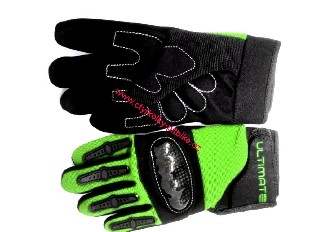 a809a258a Dětské moto cross rukavice Ultimate zelené