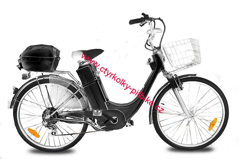 "ELEKTROKOLO city bike 26"" 250 Wattů - black"