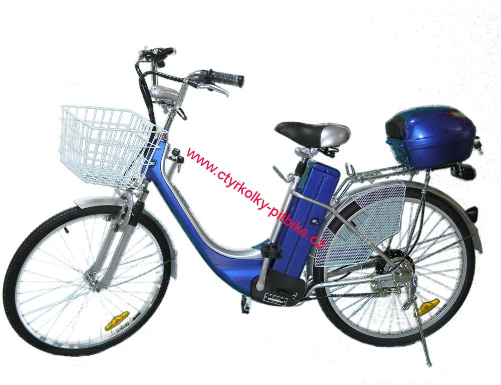 "ELEKTROKOLO city bike 26"" 250 Wattů - blue"