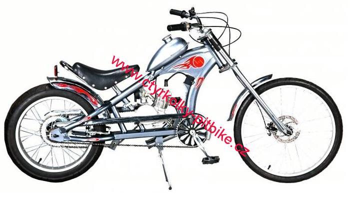 0c21cd23eed Moto kolo - motorové kolo Chopper 49cc silver