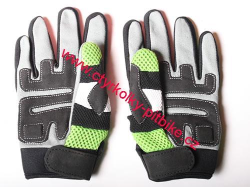 5e545b7e8 Dětské motocross rukavice zelené vhodní i na čtyřkolku,minibike