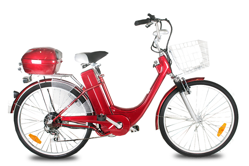 "ELEKTROKOLO city bike 26"" 250 Wattů - red"