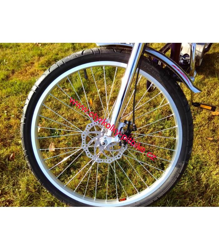 9897f079450 Moto kolo - motorové kolo Chopper 80cc blue