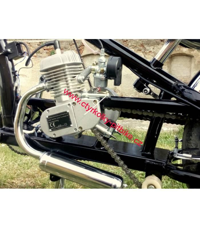 d9476c2a089 Moto kolo - motorové kolo Chopper 80cc black